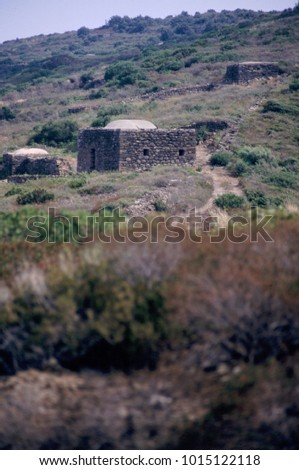 ancient dwelling in Mediterranean island
