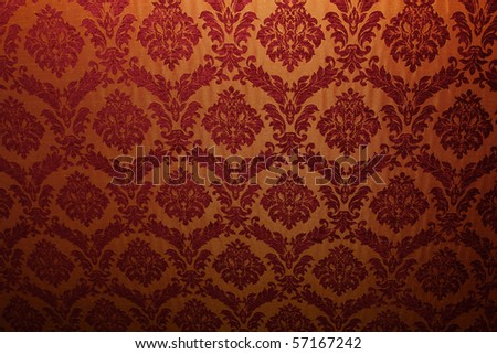 Ancient fabric with patterns suitable for a background - stock photo
