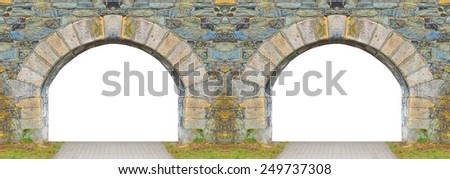 Ancient gate with space for your text. - stock photo