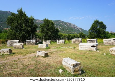 Ancient Grave tombs of Ephesus, Turkey