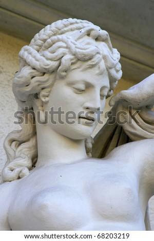 ancient Greek goddess - stock photo
