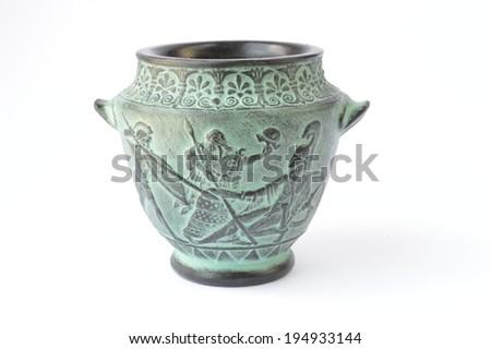 Ancient Greek urn - stock photo