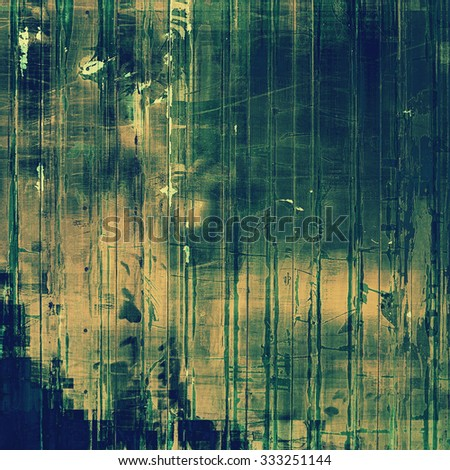 Ancient grunge background texture. With different color patterns: yellow (beige); brown; blue; green - stock photo
