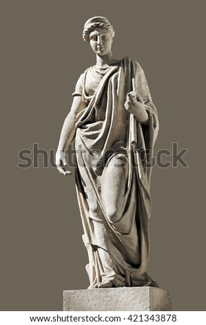 Ancient Hera Sculpture. Hera (identified with Juno by the Romans) is the Olympian Goddess of Marriage, protector of family and married women. Hera is the wife of Zeus, the king of Gods.