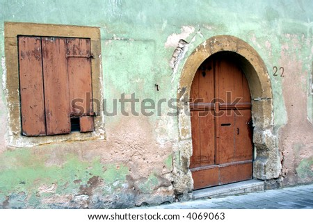 Ancient home in Rothenburg ob der Tauber, Germany - stock photo