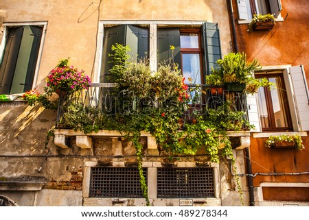 Ancient Italian traditional window.