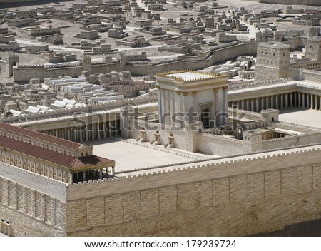 ancient Jerusalem in the period of the second temple. - stock photo
