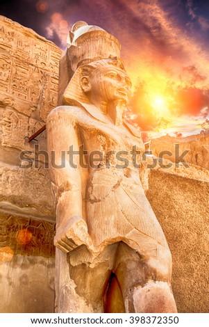 Ancient Karnak Temple in Luxor  - stock photo