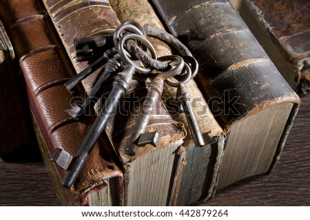 Ancient keys . Once they could open different locks - stock photo