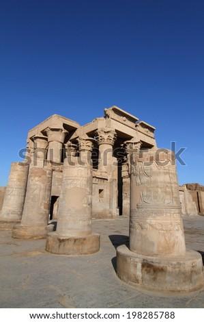 ancient Kom Ombo temple near Aswan, Egypt  - stock photo