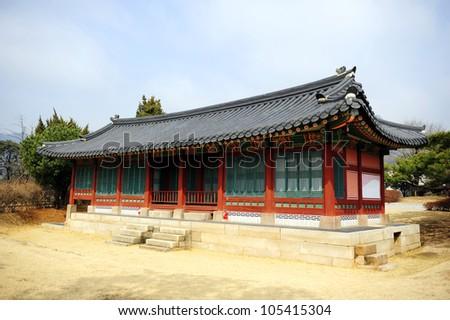 Ancient Korea house - stock photo