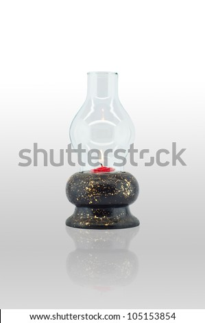 Ancient lantern. - stock photo