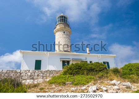Ancient lighthouse Struga on Lastovo island. Croatia - stock photo