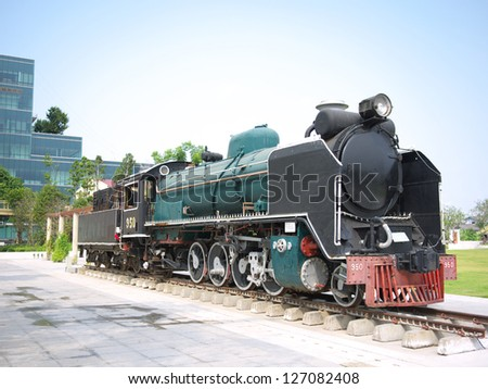 Ancient locomotive of state railway Thailand.