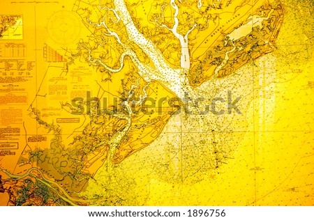 Ancient map of Hilton Head, South Carolina. More with keyword group11