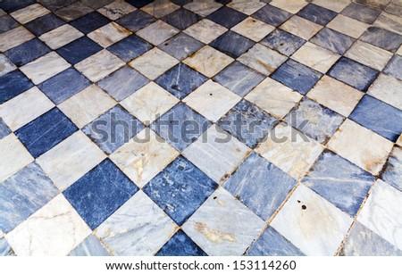 Ancient marble floor - stock photo