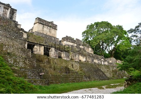 Ancient mayan ruins of Tikal, an UNESCO Heritage Centre in Guatemala