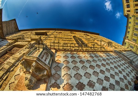 Ancient medieval architecture of Perugia in Umbria - Italy. - stock photo