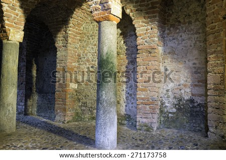 Ancient medieval church. Color image - stock photo