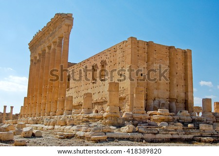 ancient monuments located in the city of palimira in Syria,ancien
