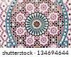 Ancient mosaic - stock photo