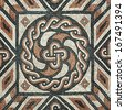 Ancient Mosaic flooring - stock photo