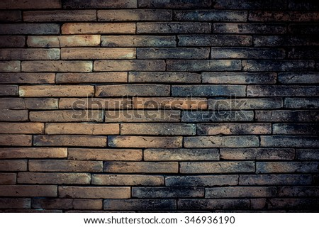 Ancient Old brick wall texture in a background image