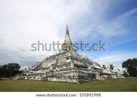 Ancient pagoda, Ayutthaya Thailand - stock photo