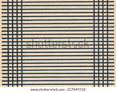 ancient paper blank page sheet with black line background - stock photo