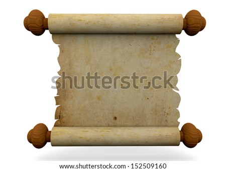 ANCIENT PARCHMENT - 3D - stock photo