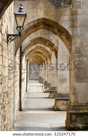 Ancient passageway - stock photo