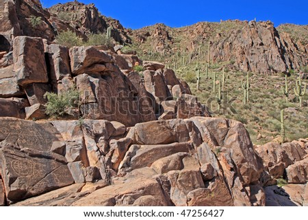 ancient rock art in the Southwest USA