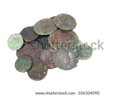 Ancient Roman Coins - stock photo