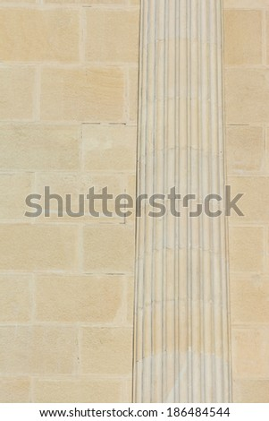 Ancient Roman Column Carved In Stone - stock photo