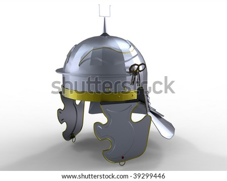 Ancient Roman Helmet - stock photo