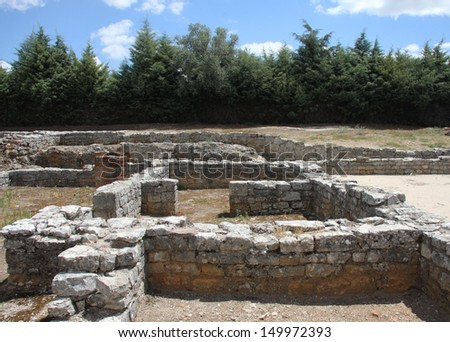 Ancient Roman ruins of Conimbriga, Portugal. 1st to 2nd centuries.