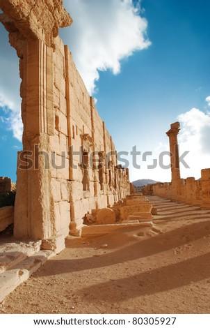 Ancient Roman town in Palmyra, Syria - stock photo