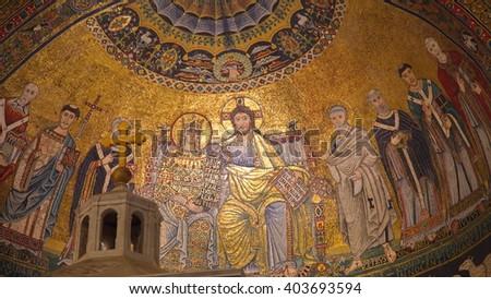 Ancient Rome Church Architecture - stock photo