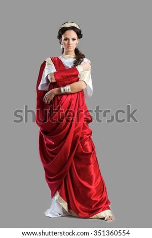 Illustration Spanish Men Women National Costume Stock