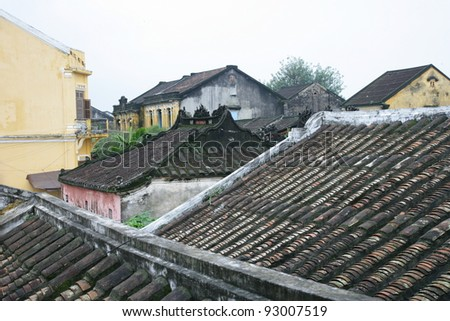 Ancient roof - stock photo