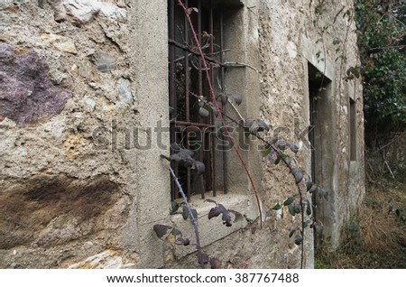 Ancient ruins Abstract concept:  decay of buildings, lack of maintenance, abandoned sites, derelict buildings - stock photo