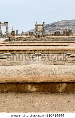 Ancient ruins of Persepolis, the ceremonial capital of the Achaemenid Empire. UNESCO World Heritage