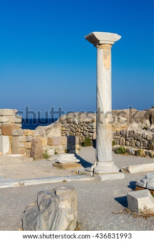 Ancient ruins on Kos island, Greece.