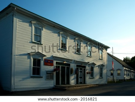 Ancient rural post-office building in Newfoundland, Canada