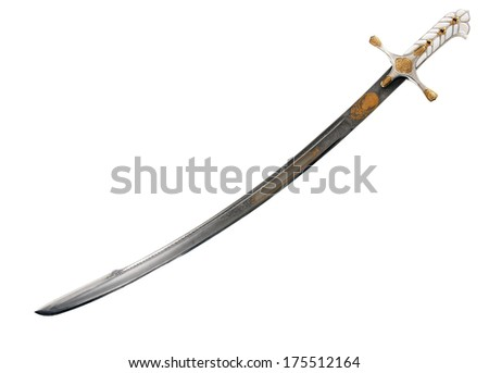 Ancient sabre. A smart variant of the fighting weapon - stock photo