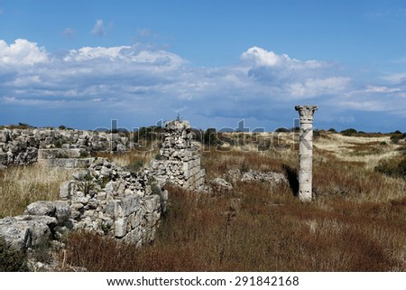 Ancient Salamis in Northern Cyprus - stock photo