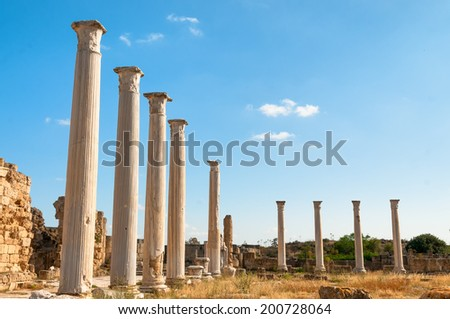 Ancient Salamis Ruins. Famagusta, Cyprus