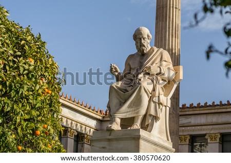 Ancient Scientist and Philosopher Plato - stock photo