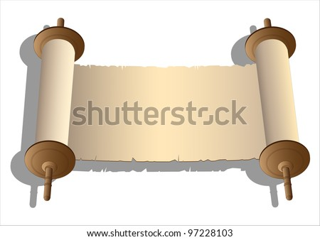 Ancient scroll - stock photo