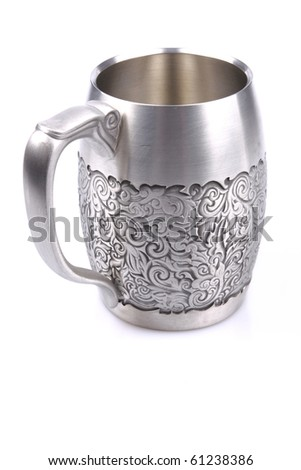 Ancient silver tableware. cup